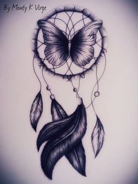 Butterfly Dream Catcher tatoo with added color Atrapasueños Tattoo, Tattoo Drawings, Body Art Tattoos, New Tattoos, Tattoo Bird, Thigh Tattoos, Tattoo Feather, Tiger Tattoo, Ankle Tattoo