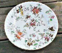 Fine China Porcelain Plate Gold Rimmed by LostTreasurebyLynn
