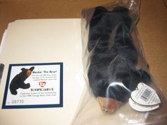 0707905a01a Sports Commemorative 1637  Rare 1998 Chicago Bears Kids Club Blackie Bear  Ty Beanie -