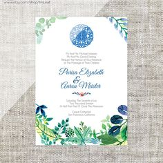 Diy printable editable korean wedding invitation card template diy printableeditable chinese wedding invitation card template instant downloadblue green floral b stopboris Gallery