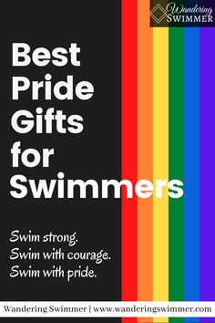 June is Pride Month! And we've collected a variety of different pride gifts for swimmers to help show your pride or support for LGBTQ+ swimmers. Gifts For Swimmers, Pride, Encouragement, June