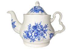 English Transferware Teapot on OneKingsLane.com