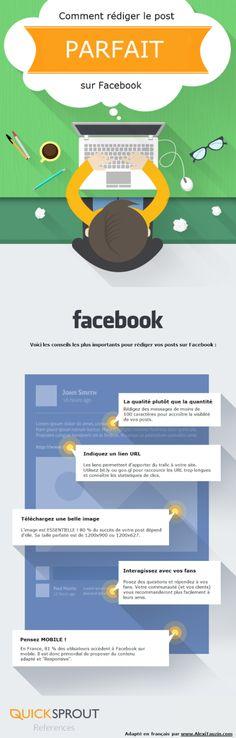 Infographie Comment rédiger le post parfait sur Facebook