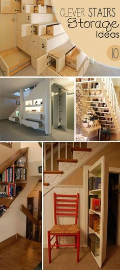 Clever Stairs Storage Ideas!