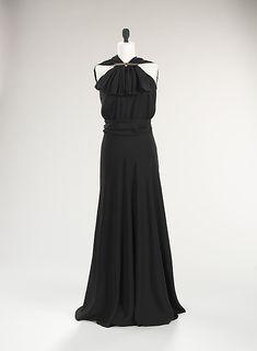 Dress, Evening  Madeleine Vionnet (French, Chilleurs-aux-Bois 1876–1975 Paris)  Date: ca. 1936 Culture: French Medium: silk, metal