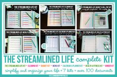 Organize and Simplify your life with The Streamlined Life COMPLETE  KIT - 100+ documents - INSTANT Download | Clean Mama Printables