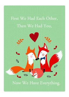 Poster família - #ilustração #fox #Family #VivianePriscinval
