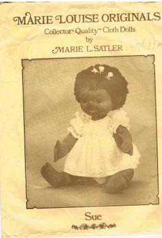 Vintage Marie Louise Originals Doll Fabric Sue by CraftiqueRedux, $12.99