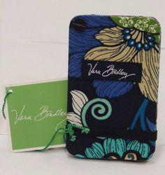 Vera Bradley Card Fan Holder MOD Blue Floral NWT SB0248 #VeraBradley