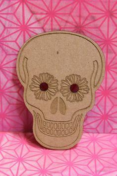 Day of the Dead,-Dia de los Muertos-Sugar Skull- Laser cut chipboard Die