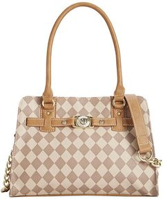Marc Fisher Checkmate Belted Satchel