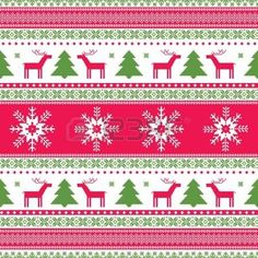 Christas traditional ornamental knitted pattern Vector