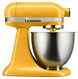 Artisan mini mixer is kind of cute in yellow!
