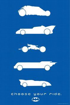 Choose your ride // Batman