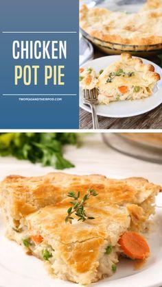 Chicken Pot Pie Crust, Chicken Pot Pie Casserole, Easy Chicken Pot Pie, Pillsbury Pie Crust Chicken Pot Pie Recipe, Chicken Pie Recipes, Creamy Chicken Pie, Casserole Recipes, Beef Recipes, Easy Pie Recipes