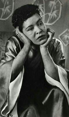 """earthakitt: """" """"Like that photographic portrait of Billie Holiday by Moneta Sleet I love so much, the one where instead of a glamorized image of stardom, we are invited to see her in a posture of thoughtful reflection, her arms bruised by tracks,. Billie Holiday, Lady Sings The Blues, Jazz Musicians, Jazz Artists, Jazz Blues, Music Icon, Indie Music, Black Is Beautiful, Beautiful People"""