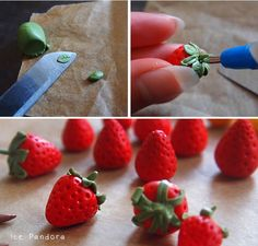ice pandora: DIY: miniature strawberries
