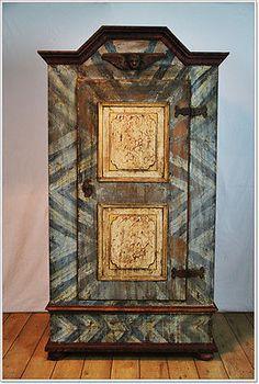 bauernschrank landhaus schrank kasten dielenschrank bemalt. Black Bedroom Furniture Sets. Home Design Ideas