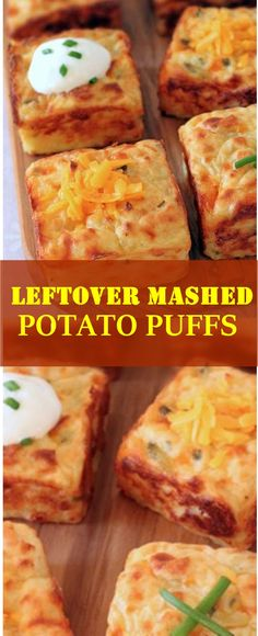 Mashed Potato Casserole Recipes - Mashed Potato Casserole Recipes - This mouth-watering mashed potato casserole is topped with Corn, Cheddar Cheese, Tyson Chicken Strips, and a drizzle. Mashed Potato Puffs Recipe, Baked Potato Recipes, Potatoe Casserole Recipes, Leftover Baked Potatoes, Left Over Mashed Potatoes, Puff Recipe, Snacks Sains, Scallop Recipes, Leftovers Recipes
