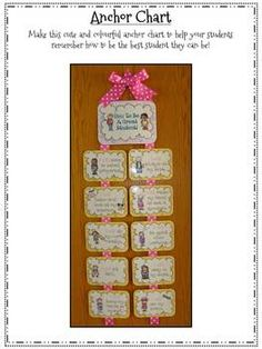 """FREE!! How To Be A Great Student {Anchor Chart}  ......Follow for Free """"too-neat-not-to-keep"""" teaching tools & other fun stuff :)"""