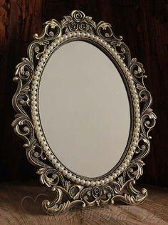 Gorgeous Vintage Antique Style Baroque Decorative Art  Deco Vanity Stand Mirror