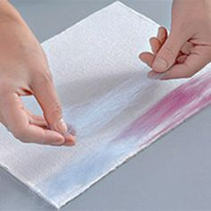 painting sunset with wool fiber
