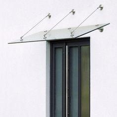 edelstahl vordach mit gebogenem glas und integrierter beleuchtung stenier edelstahl. Black Bedroom Furniture Sets. Home Design Ideas