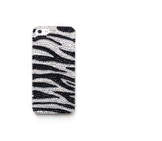 Crystal Covered iPhone 5 case, zebra iPhone 5 cover, iPhone 5s