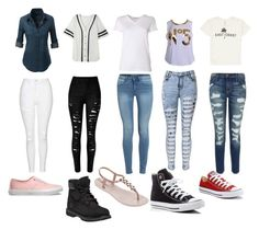 """""""squad"""" by jazzjohnson-1 on Polyvore featuring Topshop, WithChic, Current/Elliott, T By Alexander Wang, Billabong, Vans, Timberland, IPANEMA and Converse"""