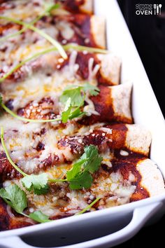 Roasted Vegetable Enchiladas | gimmesomeoven.com