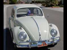 Volkswagen Beetle- love the cream color! HAD ONE A 1967 THE SAME COLOR 1500 CC ENGINE SHE WAS FAST