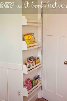 Carissa Miss: DIY Wall Bookshelves