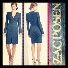 Zac Posen 1,790.00 couture quality curve-skimming bodycon black dress sz. 4; RR Price: 490.00  http://resaleriches.mybisi.com/product/zpblackdress