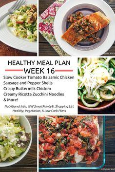 Healthy Meal Plans Week 16 - Slender Kitchen