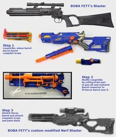 [NERF] Modding a Nerf gun into Boba Fett's Blaster - General Discussion - PureZC Forums Boba Fett Armor, Boba Fett Cosplay, Boba Fett Costume, Mandalorian Cosplay, Cosplay Weapons, Cosplay Armor, Cosplay Diy, Cosplay Ideas, Nerf Mod