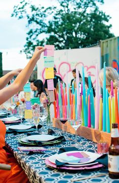 Event Colorful Anniversary Celebration in Dallas, Texas in Dallas, TX, USA, Glamorous Modern Summer by Social Llama Events Candle Centerpieces, Candles, Unicorn Party, Tablescapes, Entertaining, Seasons, Holiday Decor, Dallas Texas, More Photos