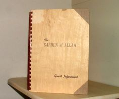 """The Garden of Allah Hotel's """"Guest Informant"""" book Golden Age Of Hollywood, Vintage Hollywood, Garden Of Allah, Los Angeles Hollywood, Hollywood Homes, The Golden Years, Hotel Guest, Guest Services, Vintage Photographs"""