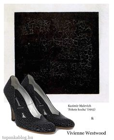 Painting by Kazimir Malevich, shoes by Vivienne Westwood