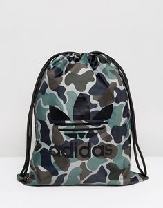 Adidas Originals Gymsack In Camo