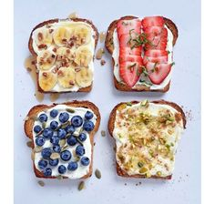 {ONE} Fancy Toast -- I'm a huge fan of toast. Avocado toast and cinnamon toast have to be my favorites but came across these fancy toast op. Breakfast And Brunch, Breakfast Recipes, Breakfast Ideas, Breakfast Healthy, Breakfast Sandwiches, Mexican Breakfast, Breakfast Pizza, Vegetarian Breakfast, Breakfast Muffins