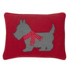 Scotty Dog Christmas Cushion
