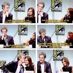 Jenna Coleman and Peter Capaldi