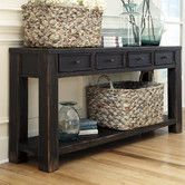 Baltwood Console Table from Wayfair... this could be cool in my entry way.