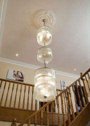 Sparkle Glass three tier chandelier