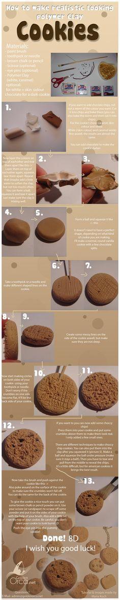 Polymer Clay Cookie Tutorial by MariaKoch on deviantART