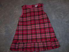 BABY GAP PLAID PINK JUMPER DRESS STRETCH GIRL SIZE TODDLER 12-18 MONTHS CUTE! #BABYGAP #Everyday