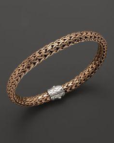 John Hardy Men's Classic Chain Silver and Bronze Medium Chain Bracelet Bloomingdale's