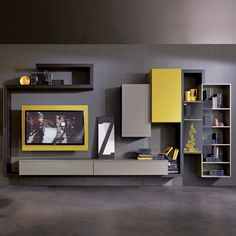 Contemporary TV wall unit / lacquered wood / elm SIDE 5 Fimar Srl Source by Living Room Wall Units, Living Room Designs, Living Room Decor, Living Rooms, Tv Furniture, Furniture Design, Woodworking Furniture, Woodworking Projects, Muebles Rack Tv