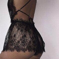 Hot Sexy Women Plus Size Lace Babydoll Underwear Lingerie Dress Sleepwear Sexy Lingerie, Lingerie Outfits, Pretty Lingerie, Babydoll Lingerie, Lingerie Sleepwear, Nightwear, Lace Lingerie Dress, Lingerie Styles, Lingerie Ladies