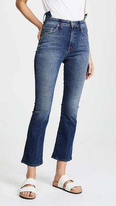 online shopping for MOTHER The Shift Insider Ankle Jeans from top store. See new offer for MOTHER The Shift Insider Ankle Jeans Mother Jeans, Ankle Jeans, Stretch Jeans, Flare Jeans, Your Style, Denim, Pants, Fashion Design, Clothes